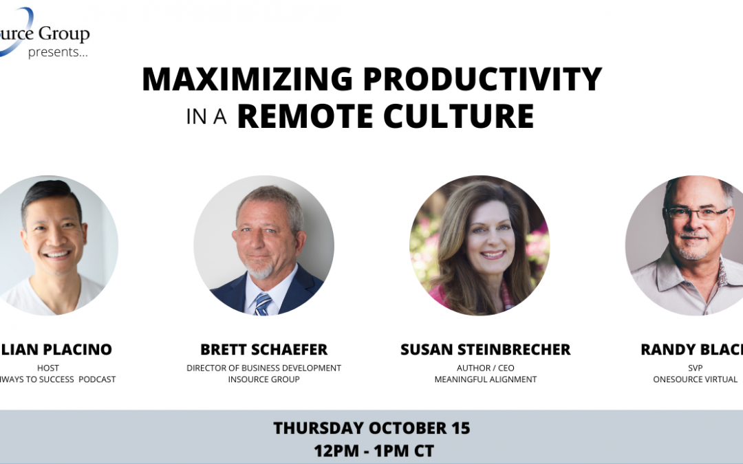 Maximizing Productivity in a Remote Culture (Free Webinar)